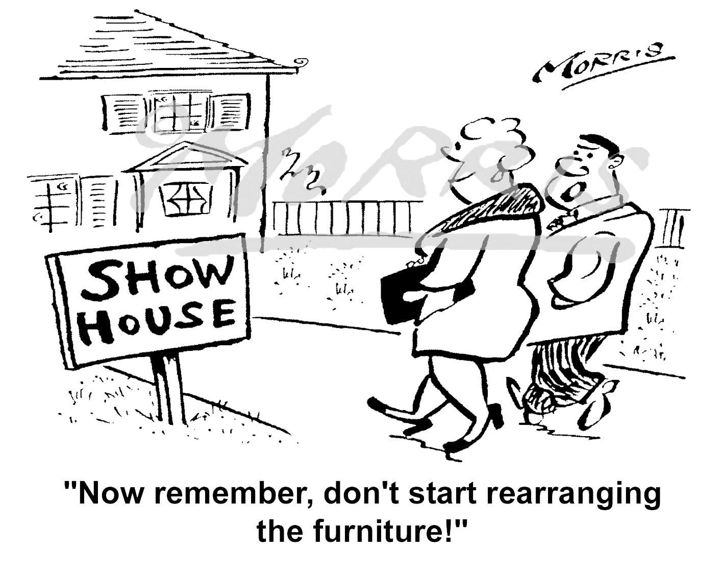 Estate agent cartoon, real estate comic cartoon – Ref: 6254bw