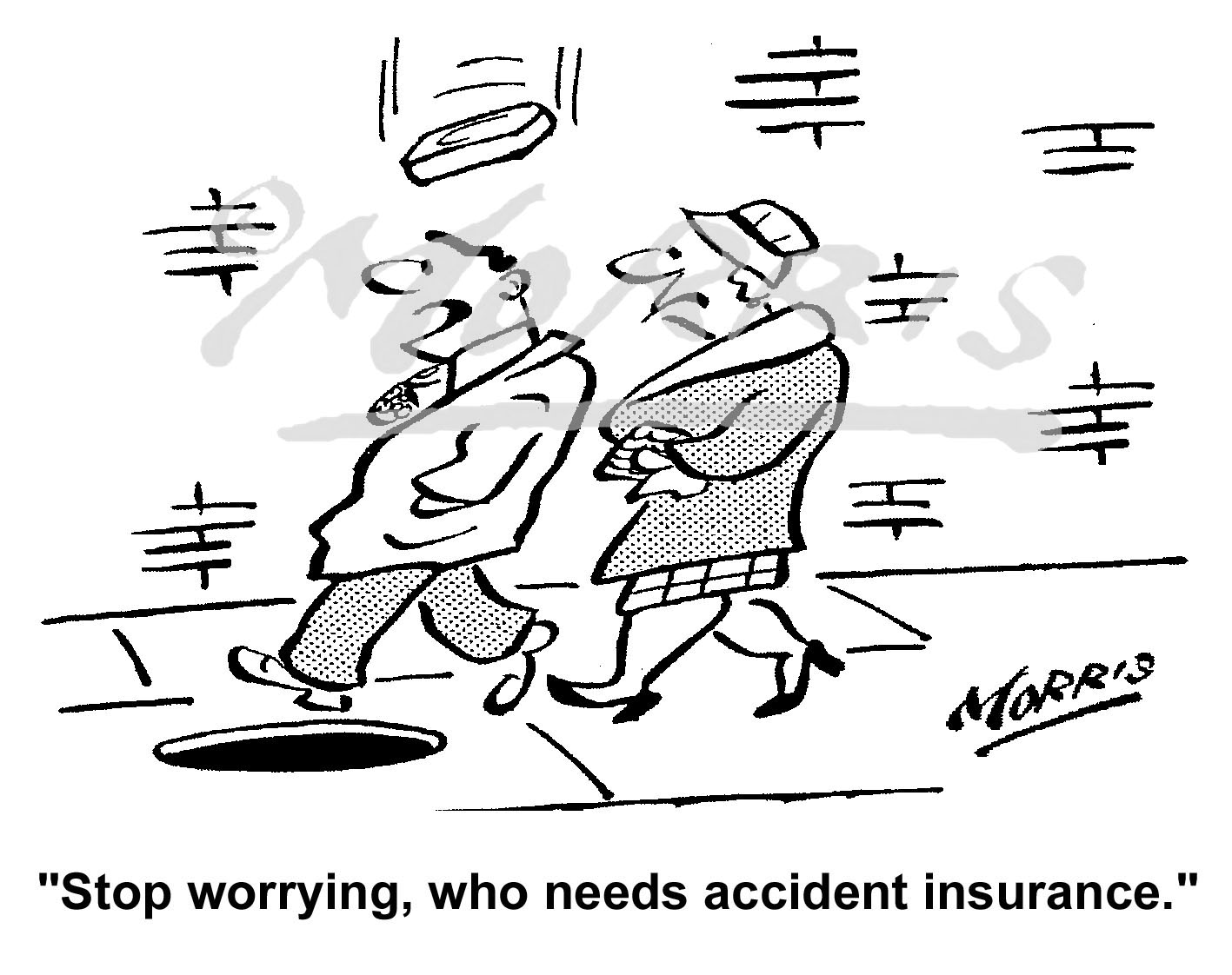 Personal Insurance cartoon – Ref: 6342bw