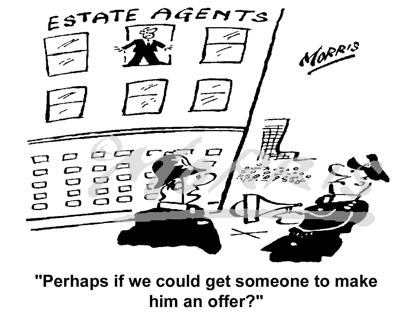 Insurance business cartoon – Ref: 6542bw
