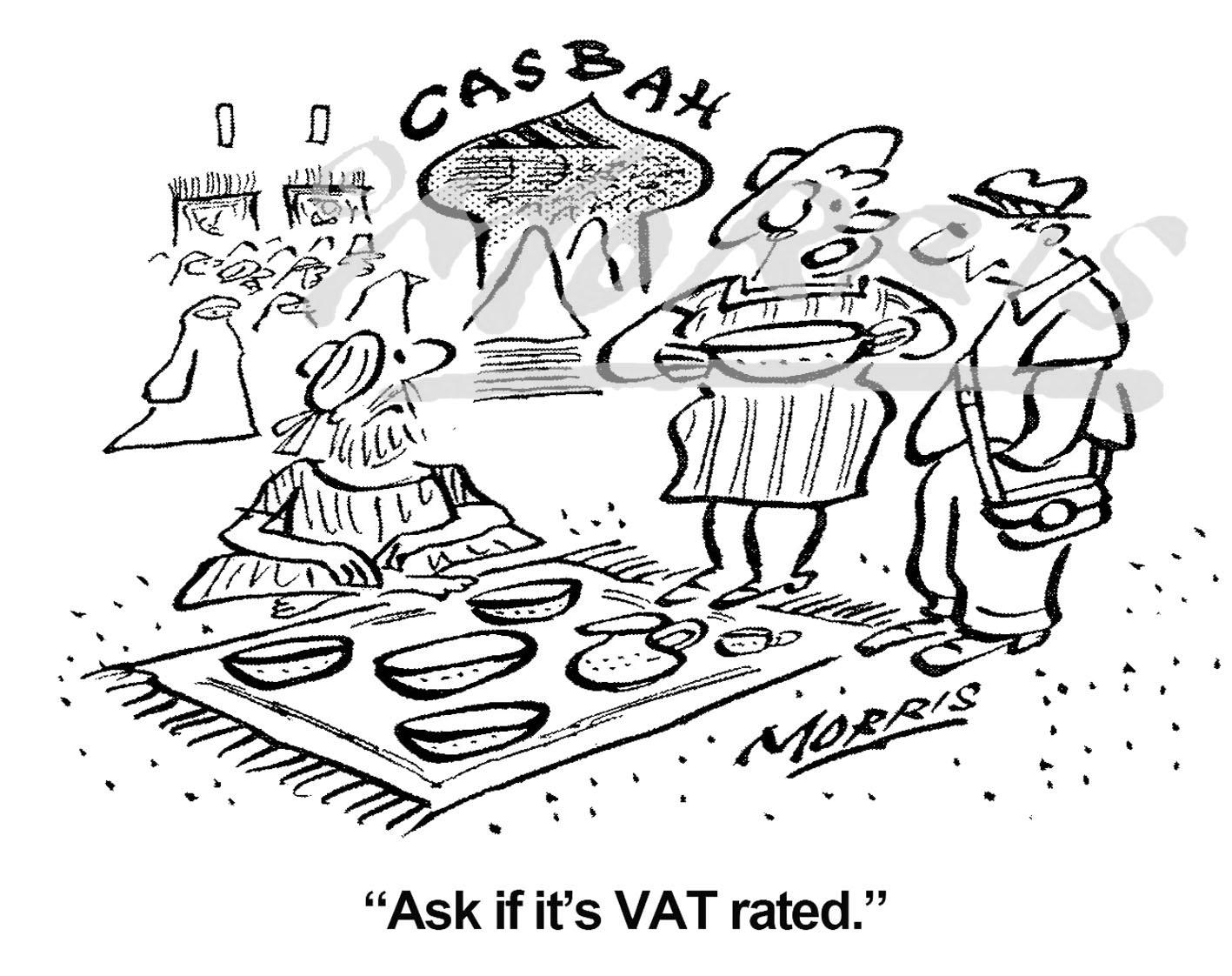 Taxation VAT cartoon – Ref: 7372bw