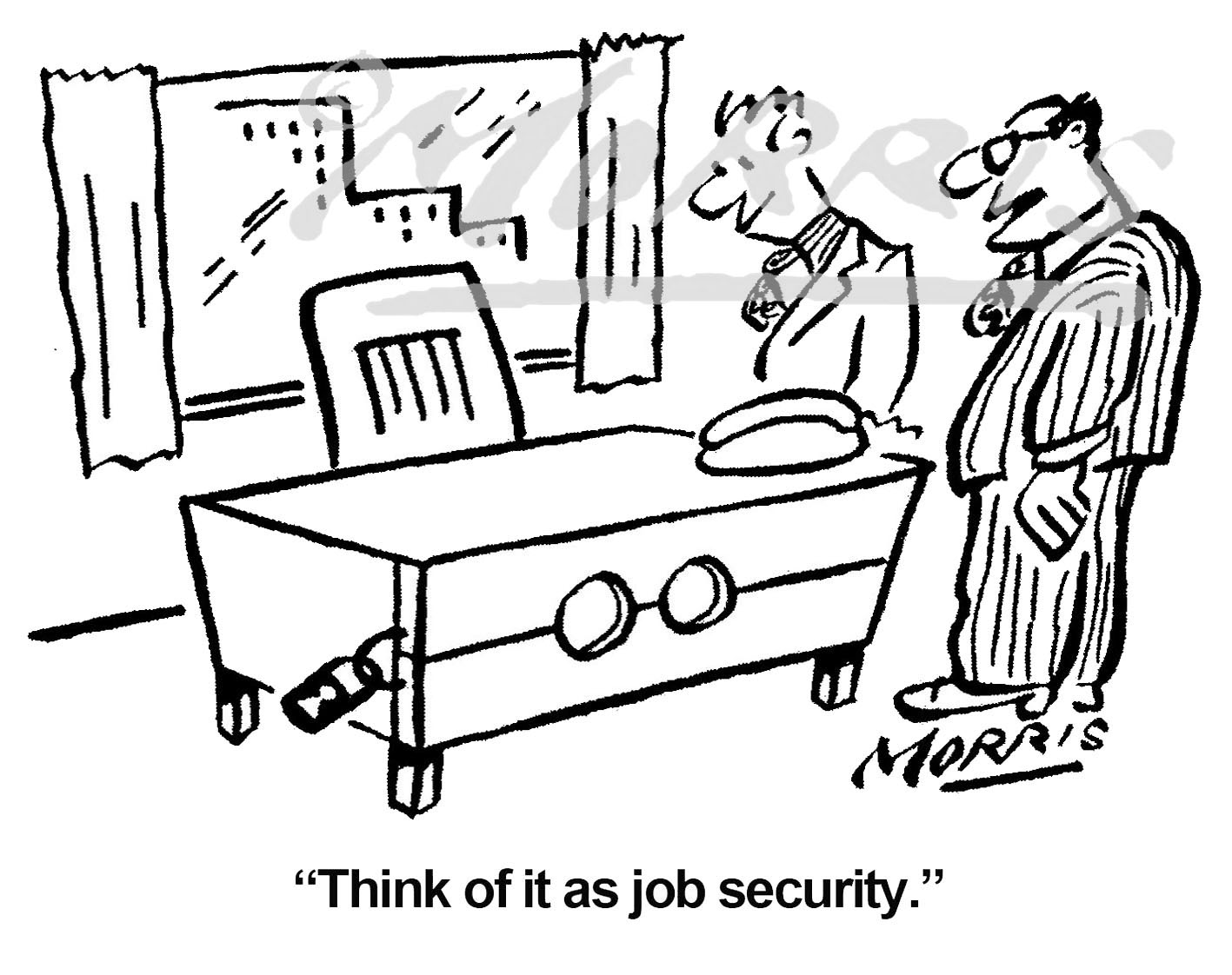 Job security cartoon, office cartoon – Ref: 7381bw