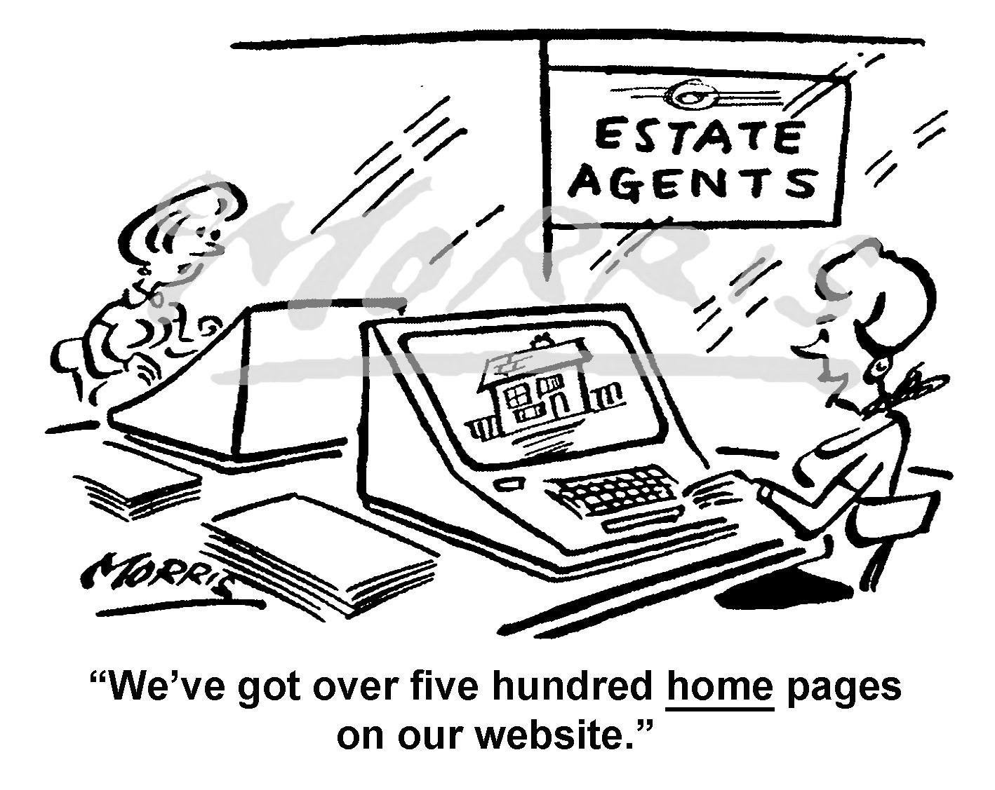Estate agency cartoon – Ref: 7384bw