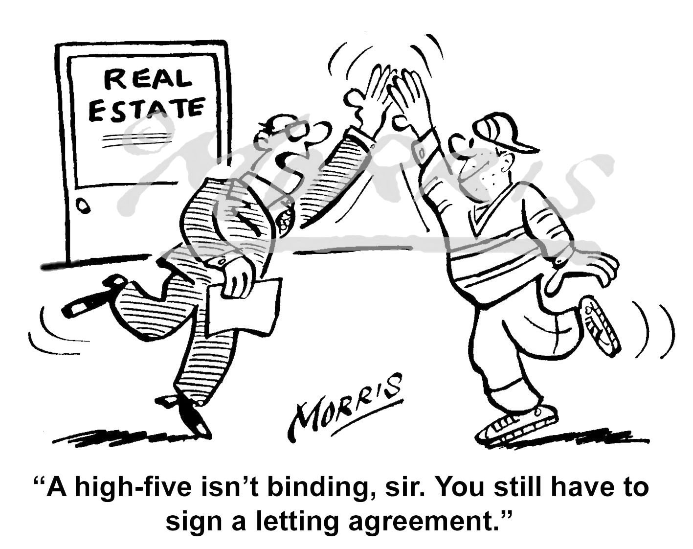 Real Estate cartoon, Property cartoon – Ref: 7390bwus