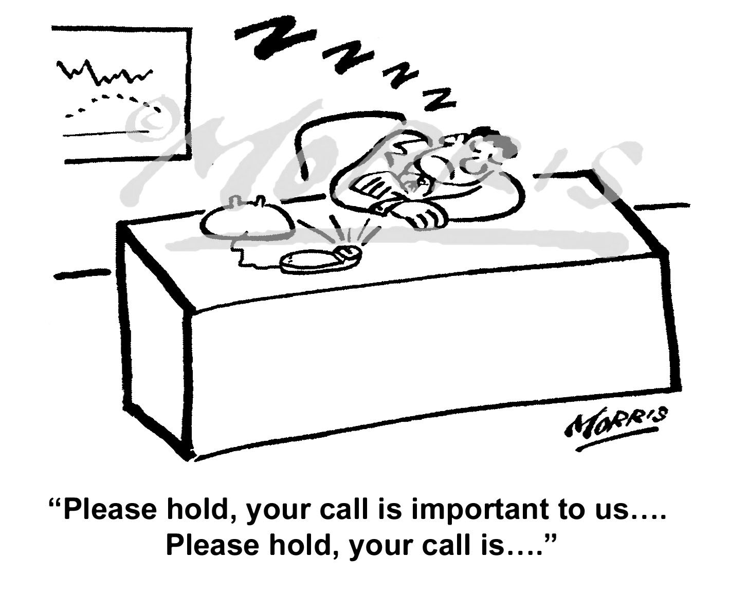Telephone comic cartoon – Ref: 7405bw