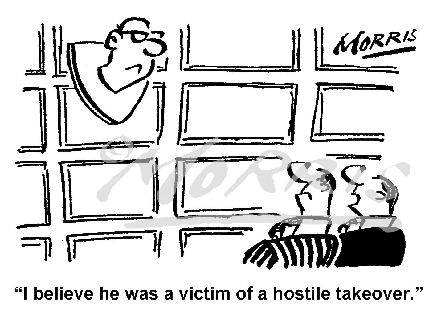 Hostile takeover comic business cartoon – Ref: 7612
