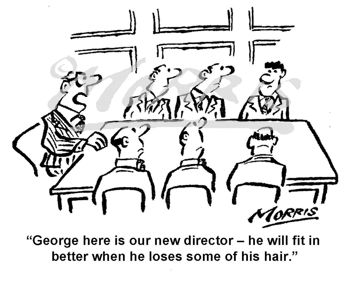 Boardroom director cartoon – Ref: 7615bw