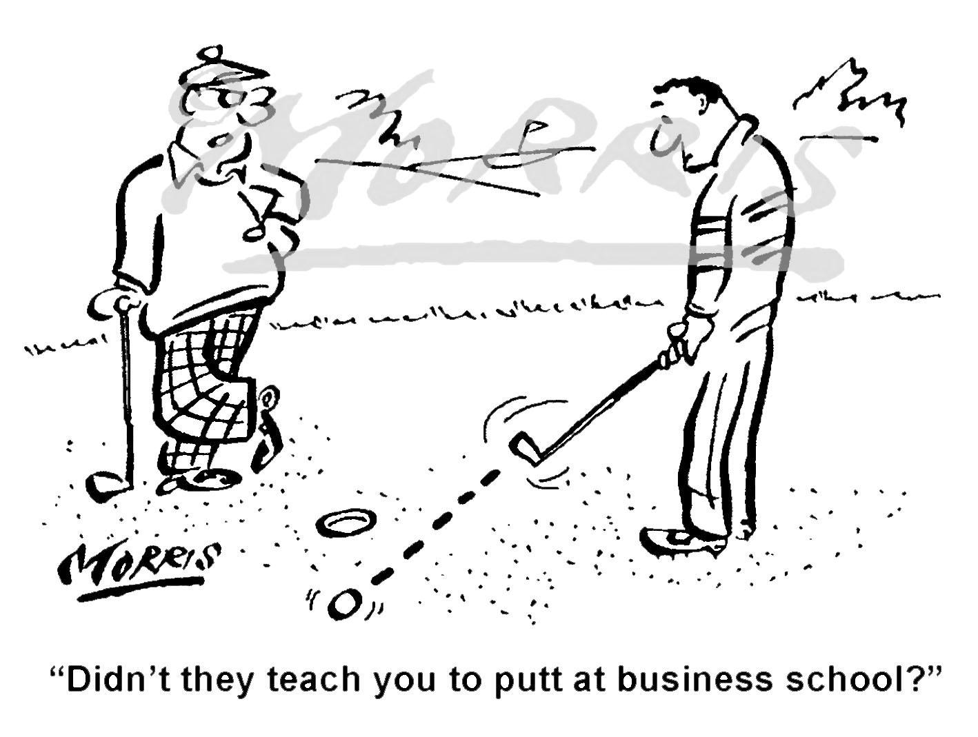 Golf cartoon, golfing cartoon, golf comic – Ref: 7617bw
