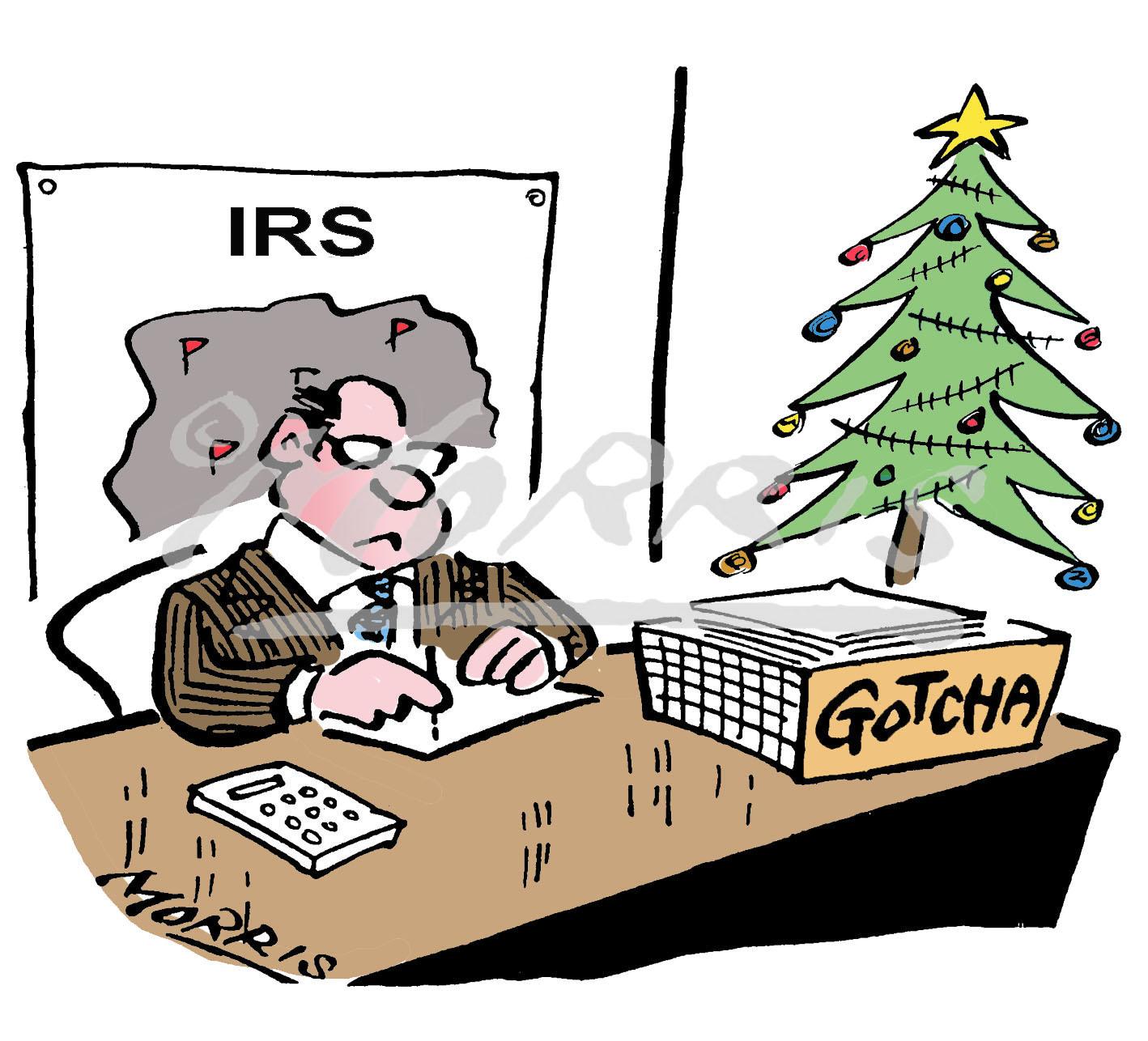 Christmas cartoon, IRS comic cartoon – Ref: 7701colus