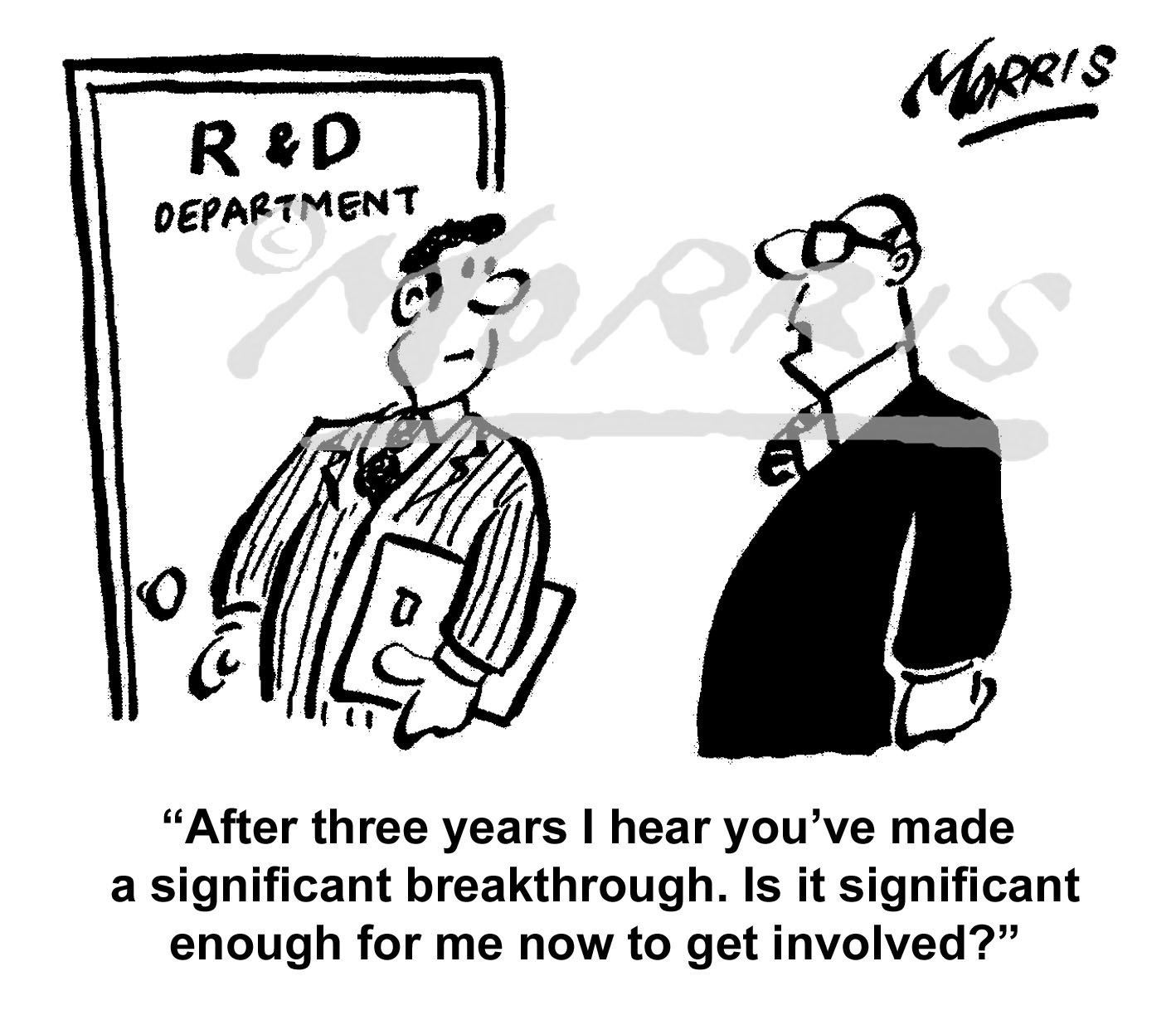 Research & Development cartoon, boss comic – Ref: 7856bw