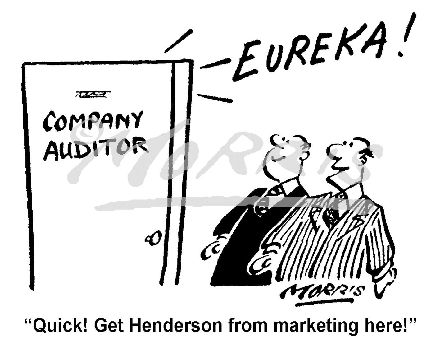 Company auditor business comic cartoon – Ref: 7903bw