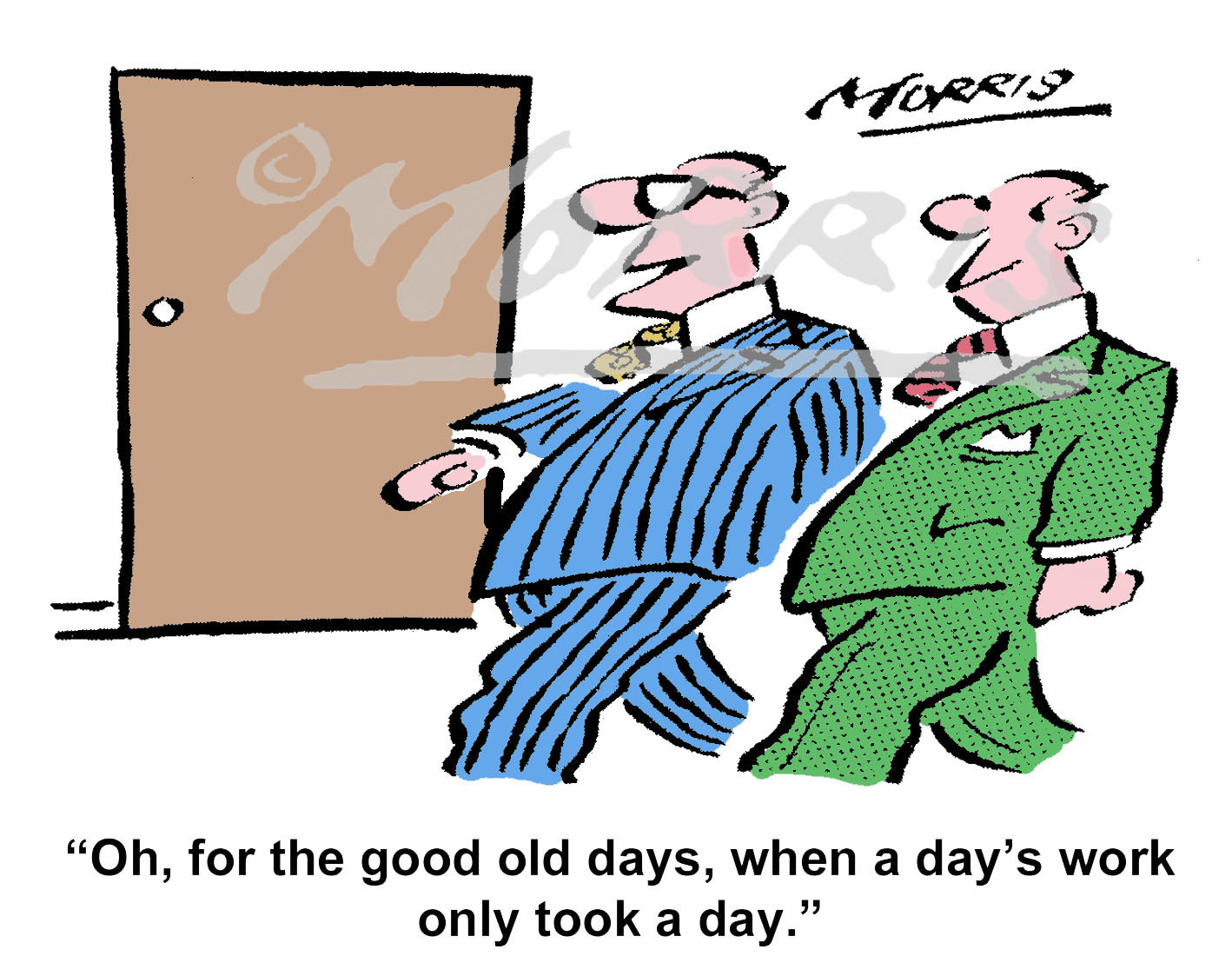 Management office business cartoon comic – Ref: 7965col