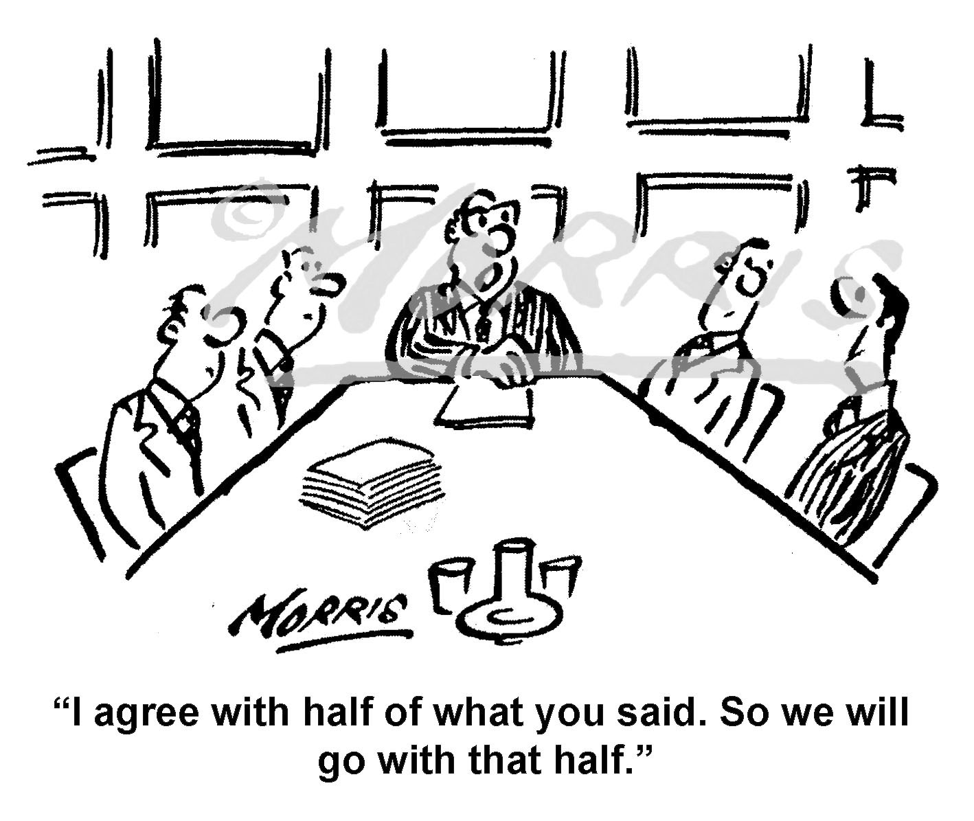 Boardroom Chairman President comic cartoon – Ref: 7990bw ...