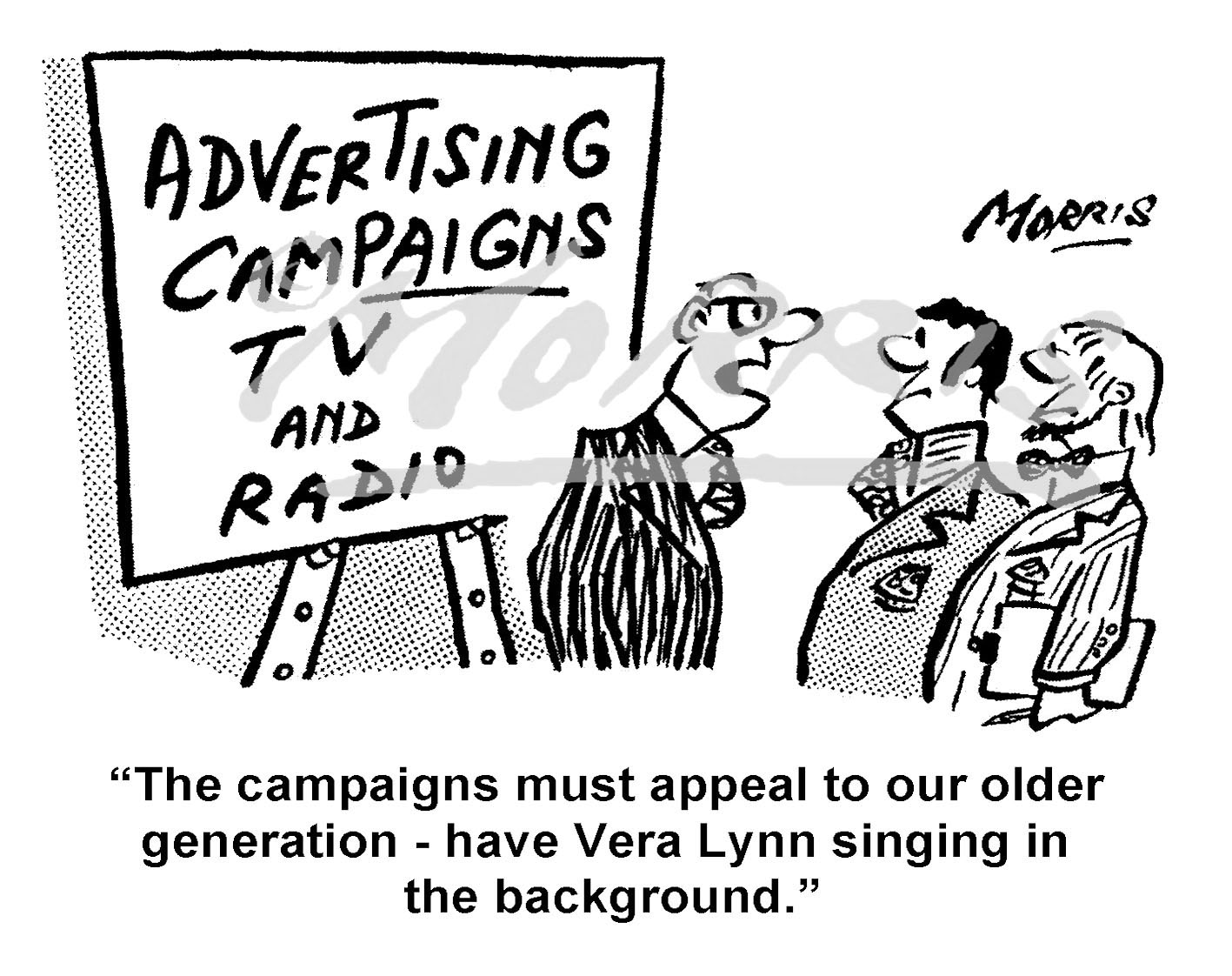 Advertising campaign cartoon – Ref: 7993bw