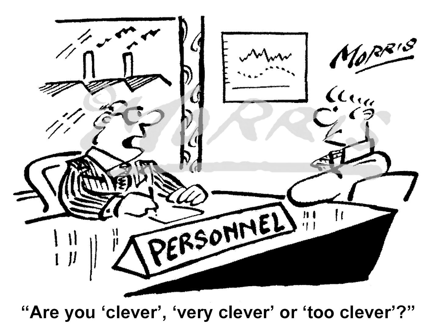 Personnel interview comic cartoon – Ref: 8109