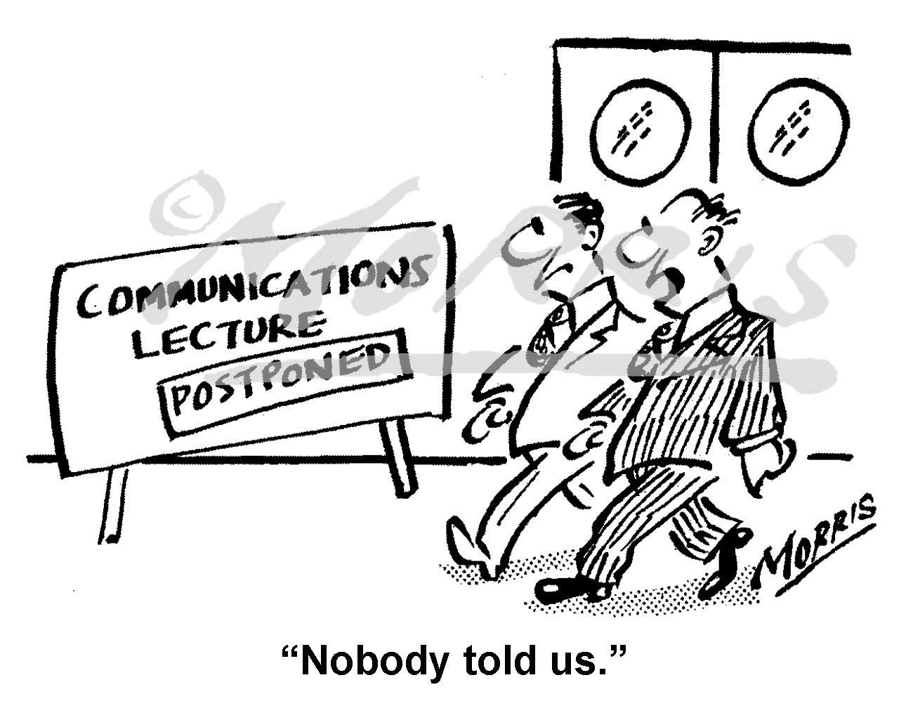 Communications cartoon – Ref: 8276bw