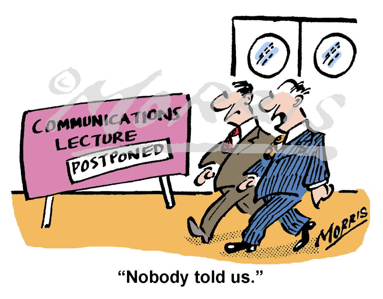 Communications cartoon – Ref: 8276col