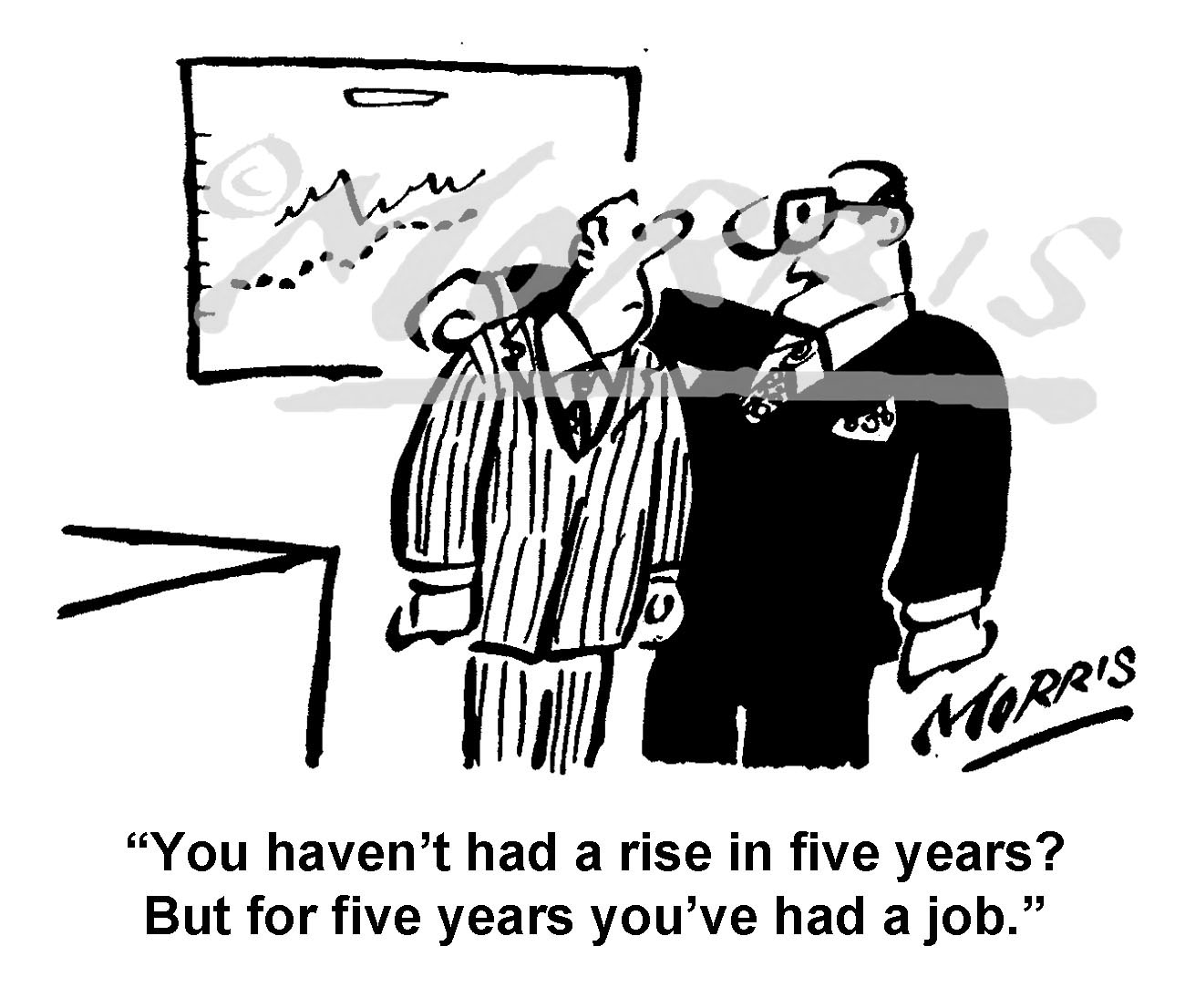 Employee asking for a wage rise cartoon – Ref: 8294bw