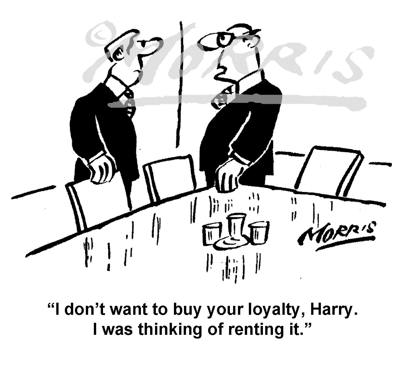 Boardroom chairman director cartoon – Ref: 8336bw