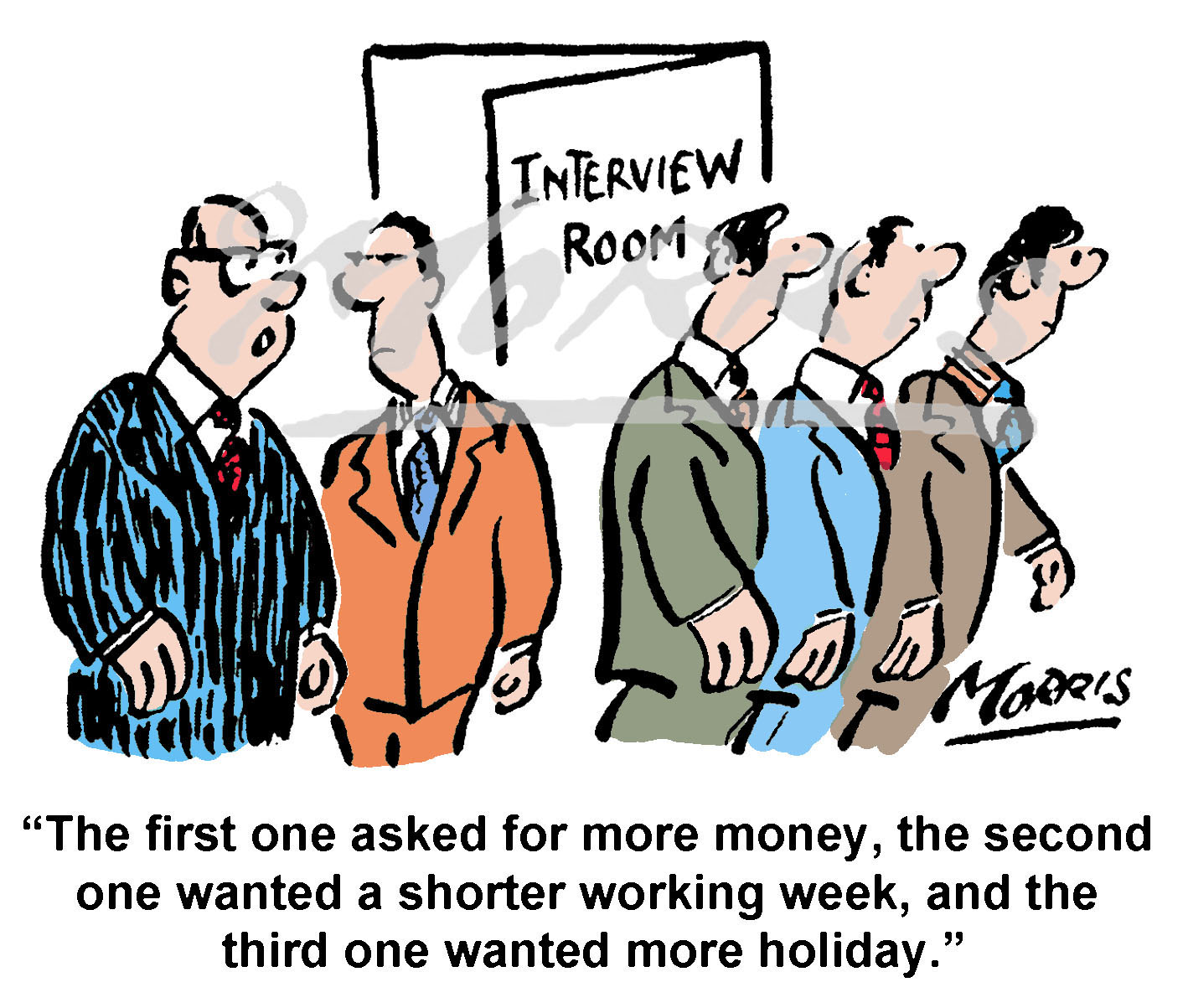 Job interview business cartoons – Ref: 8345col