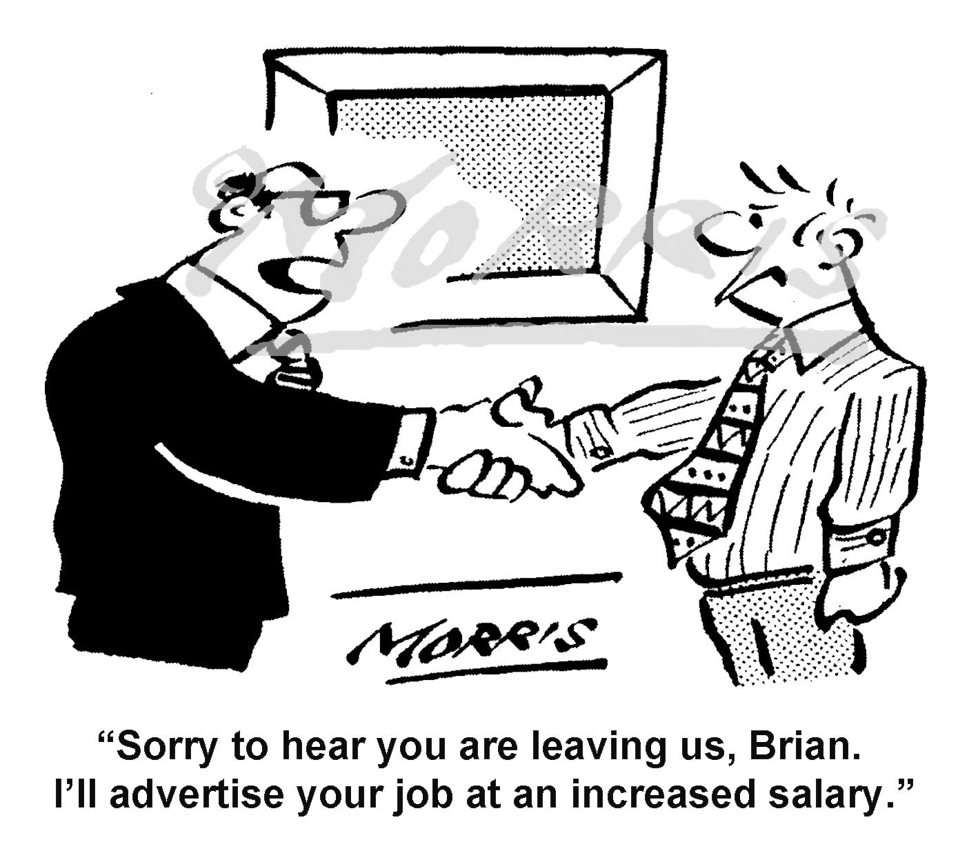 Job cartoon – Ref: 8397bw