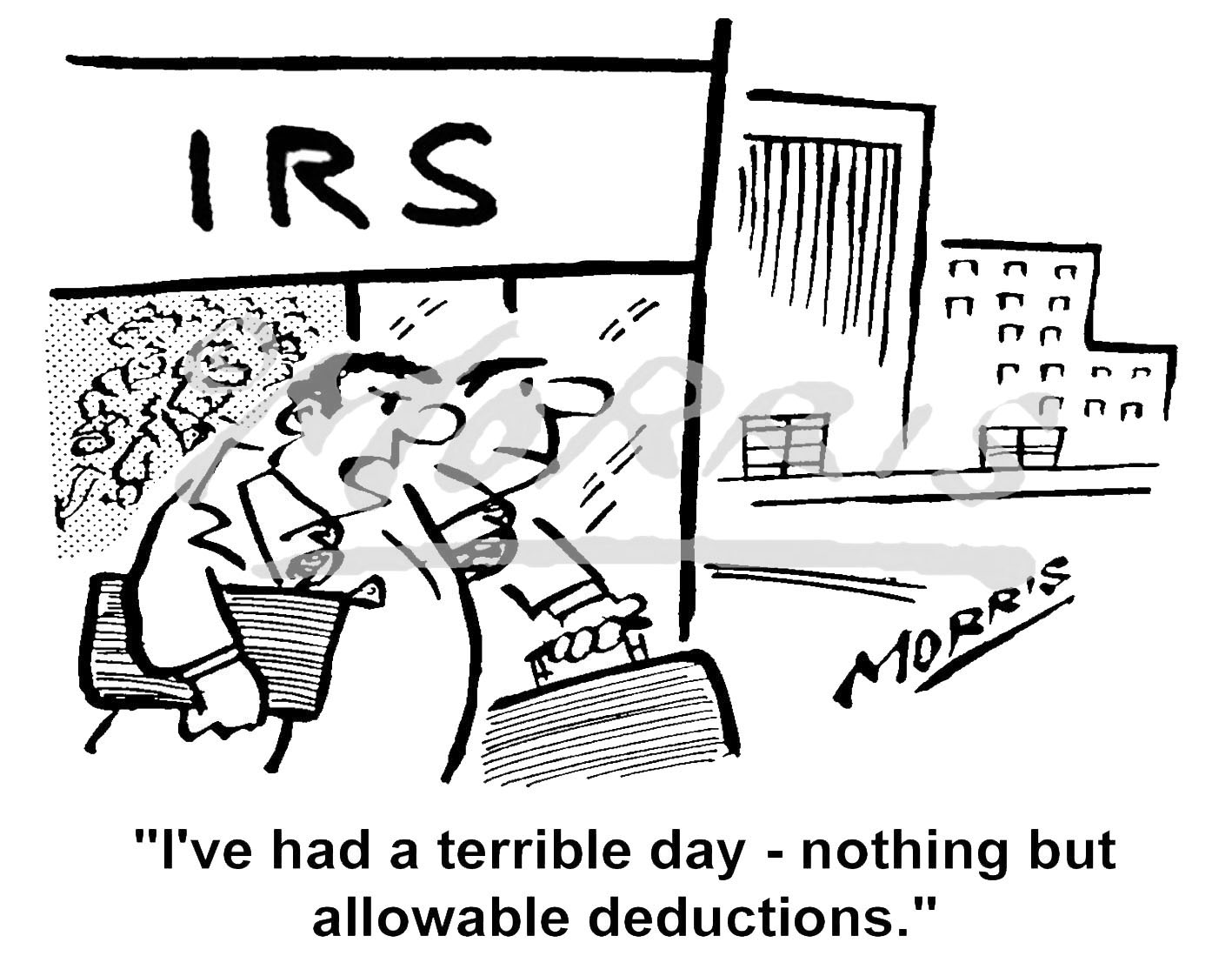 IRS tax comic cartoon – Ref: 8614bw