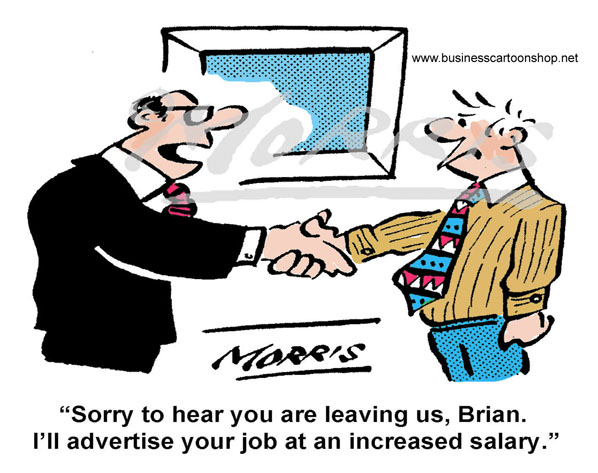 Free monthly cartoon – Human Resources / Management cartoon : 8397Fcol